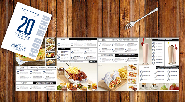 these are just some prospective designs for a food menu i designed for the agency at - Menu Design Ideas