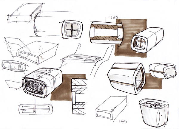 design sketches - furniture concepts on Behance