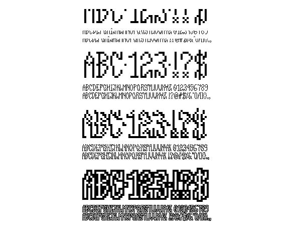 type font free download pixel fontstruct fontstruction design Glitch data bending