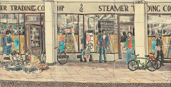 cambridge sketchbook moleskine location drawing panorama