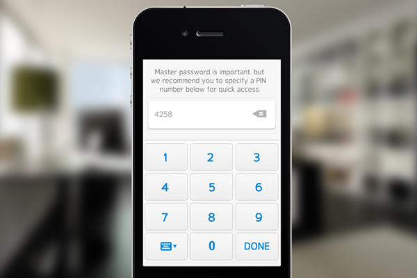 UI ux design ios app application blackarrow Password security keeper safe iphone
