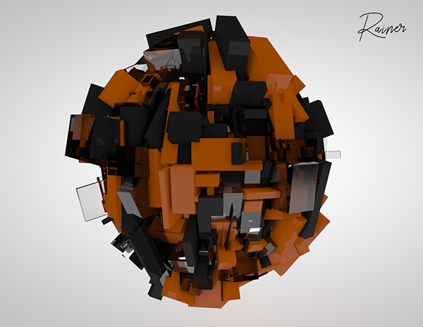 Using Cinema 4D mograph tools to create abstract art on