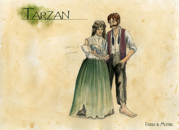Tarzan The Stage Musical Costume Design On Behance