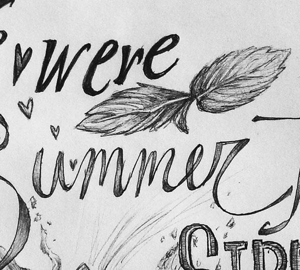 Lyric Series: Summertime Sippin' On Behance