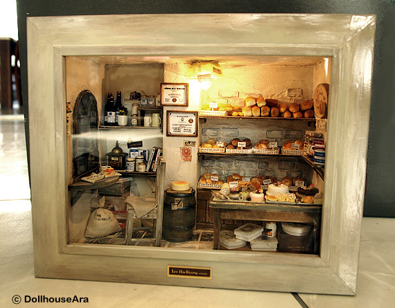 The Bakery Vintage Country Small Bread Shop Miniature On
