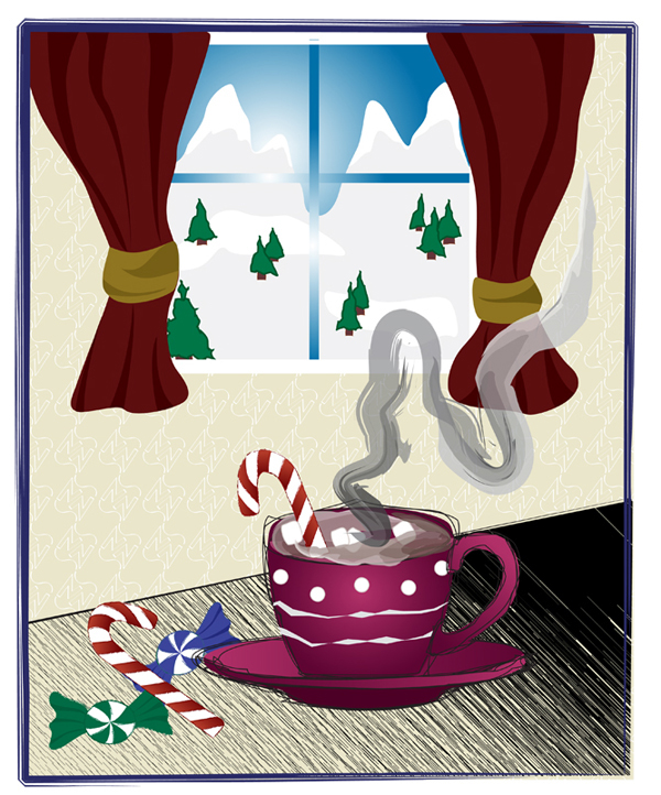 Invitation Direct mail postcard flyer holiday card picnic Christmas Coupons