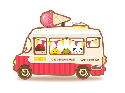 Cartoon Ice Cream Van On Behance