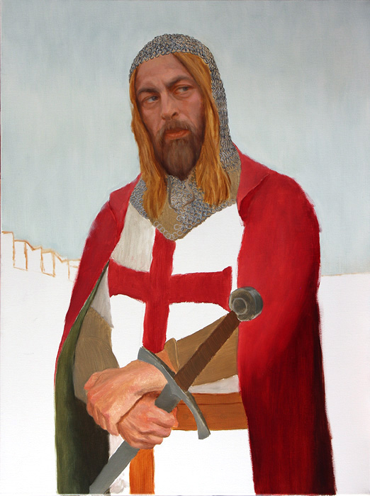 Oils knight figure Realism