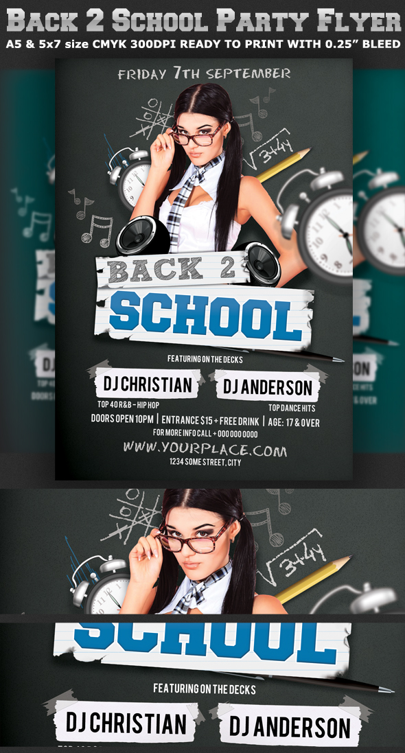 Back To School Party Flyer Template V2 On Behance