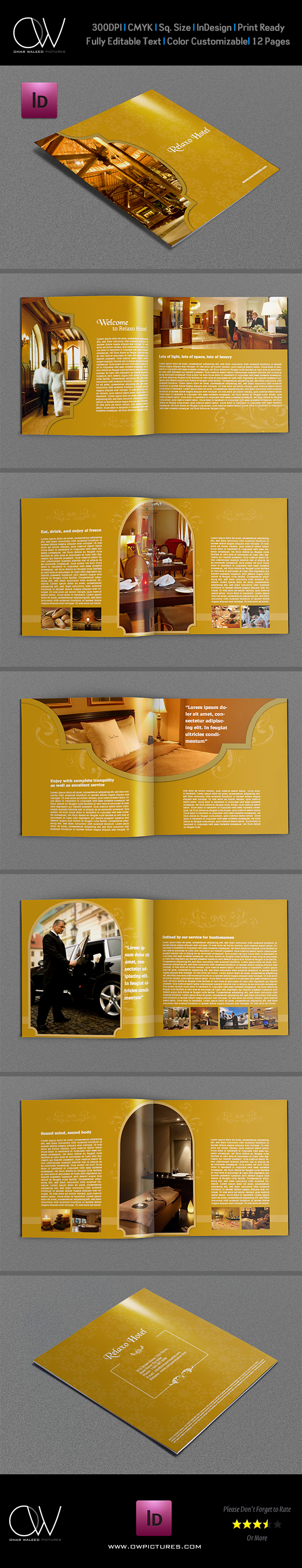 Hotel And Motel Brochure Template 12 Pages On Behance