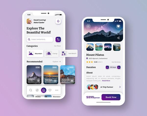 Travel Mobile App UI Design