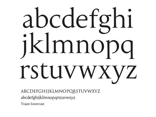 TRAJAN lowercase on Behance