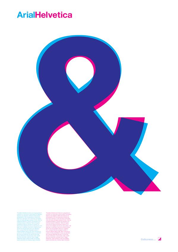 Arial Vs Helvetica On Behance