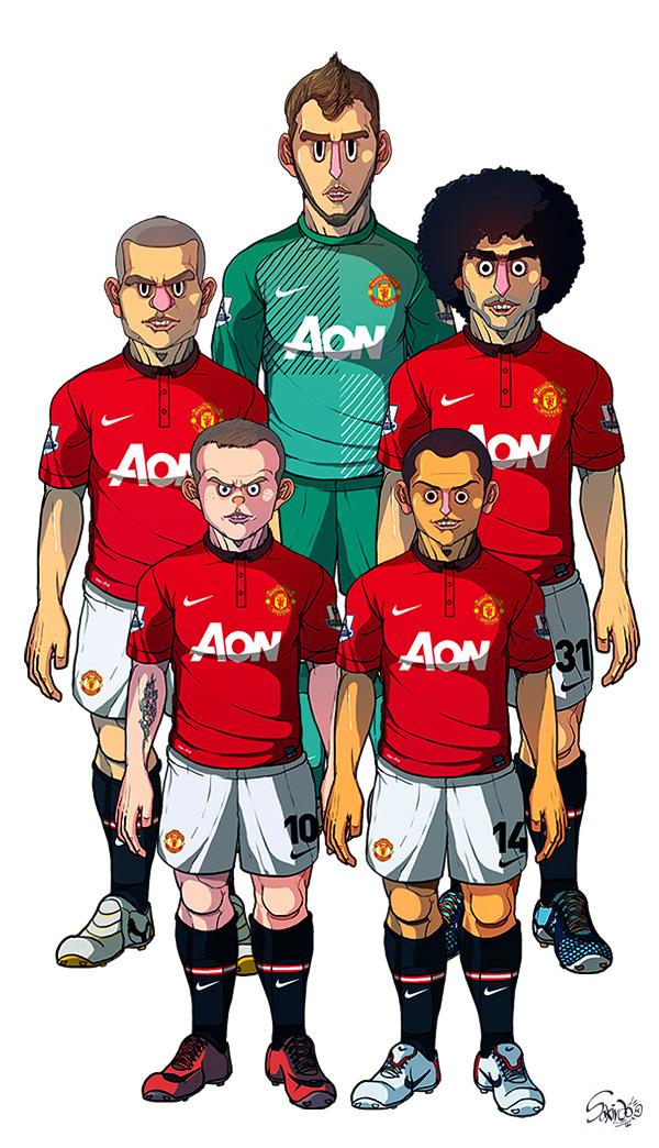 b59a0aeafd26ac763d85a1006fbb95cd South Korean designer produces some pretty disturbing Manchester United fan art, ft Rooney & Fellaini