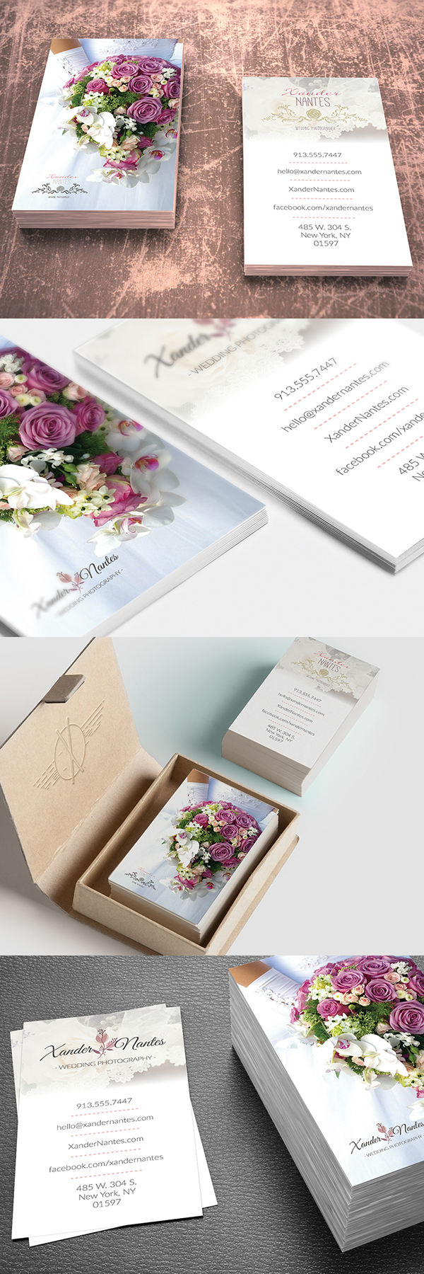 Wedding Photographer Business Card Photoshop Template on Behance