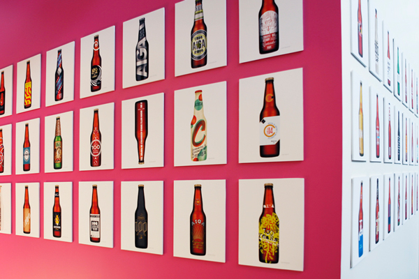 bottle beer aiga design graphic type letters celebrate gold fancy