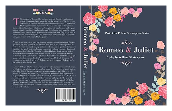Book Cover Design Description : Romeo juliet book cover design on wacom gallery
