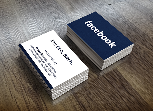 Facebook Business Card Movie Replica On Student Show