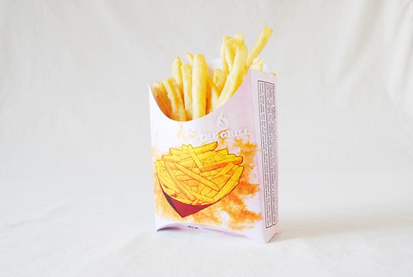 Fast food hamburger Fries