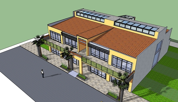 Proposed Two Storey Commercial Building On Behance