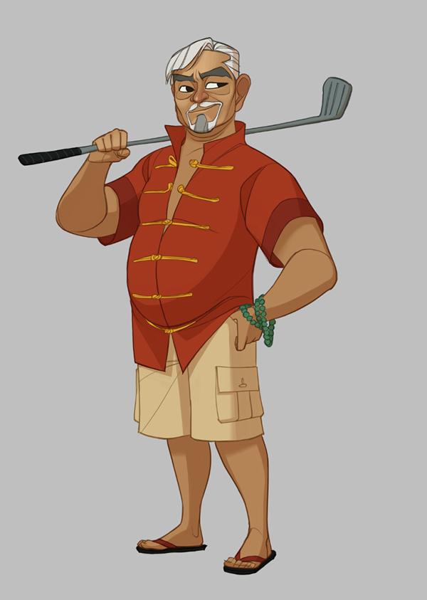 Character Costume Design Tutorial : Powerstar golf character costume design on behance