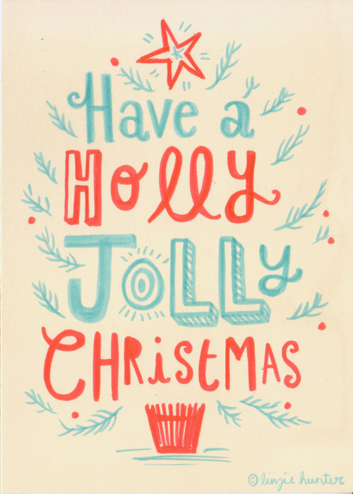 christmas cards on behance