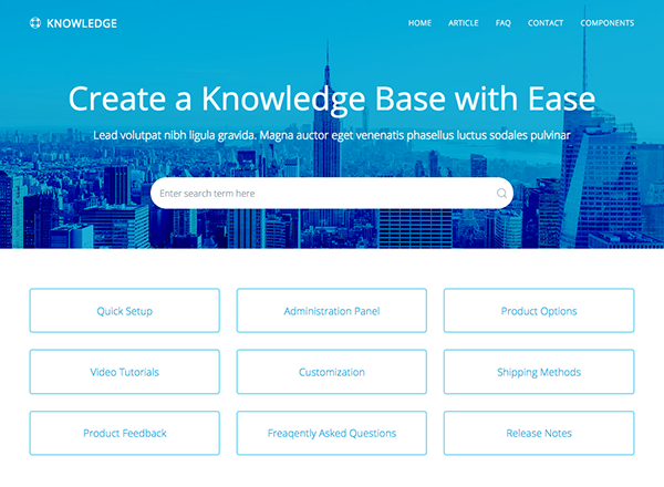 Responsive knowledge base faq html template on student show live search maxwellsz