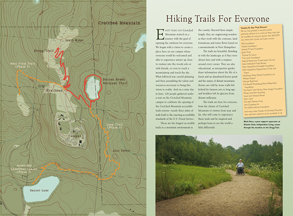 Accessible hiking trails  Crotched Mountain