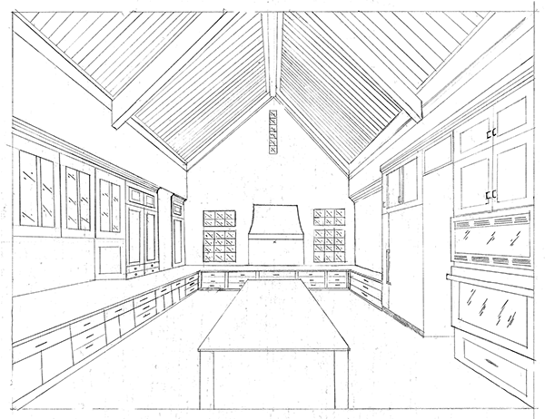 kitchen 1 point perspective. kitchen 1 point perspective o