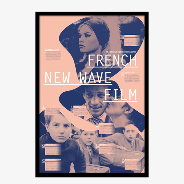 French New Wave Film Poster On Wacom Gallery
