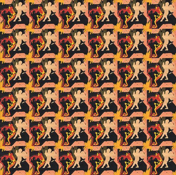 Repetitive Cherub Pattern On Risd Portfolios
