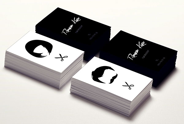 Hairdresser business card on Behance