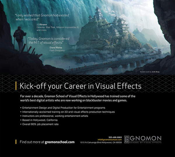 Four Years of Gnomon Magazine Ads on Pantone Canvas Gallery