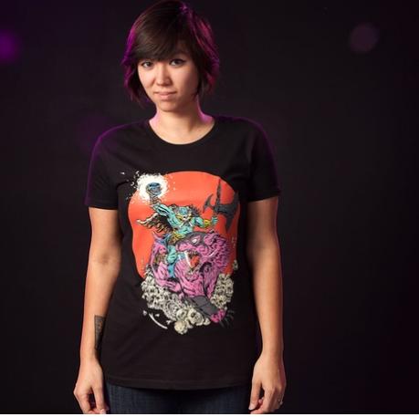T Shirt tee metal skull motu