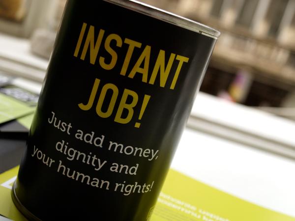 Red Cross human trafficking easy job Humanitarian