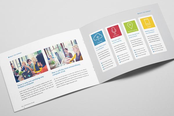Metro horizontal brochure on behance for Horizontal brochure design