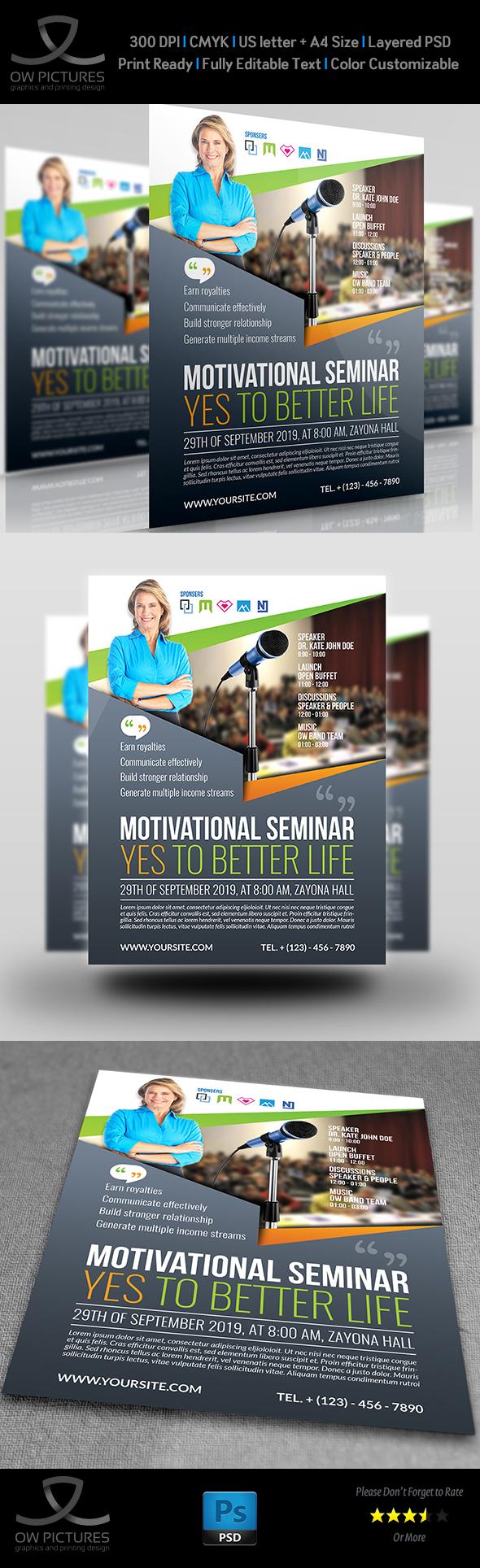Seminar Flyer Templates on Behance