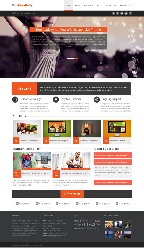 Procreativity, WordPress Page Builder Ready Theme