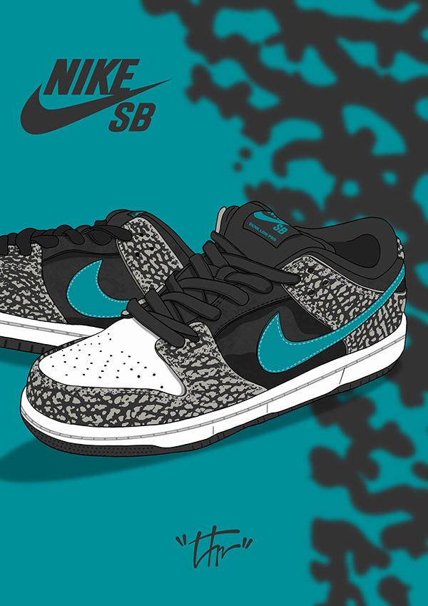 Nike SB Dunk Low «Elephant»