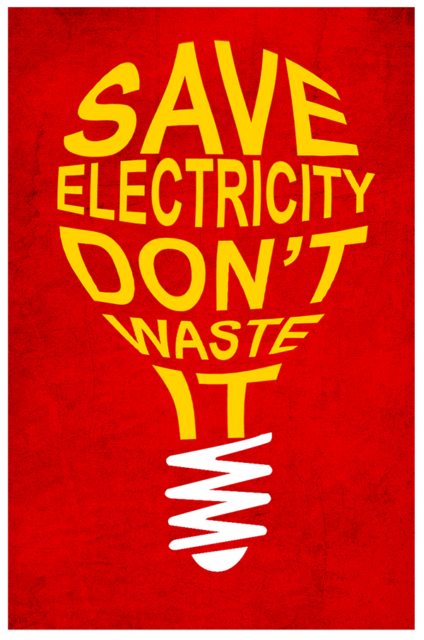 Design Electricity Safety Poster