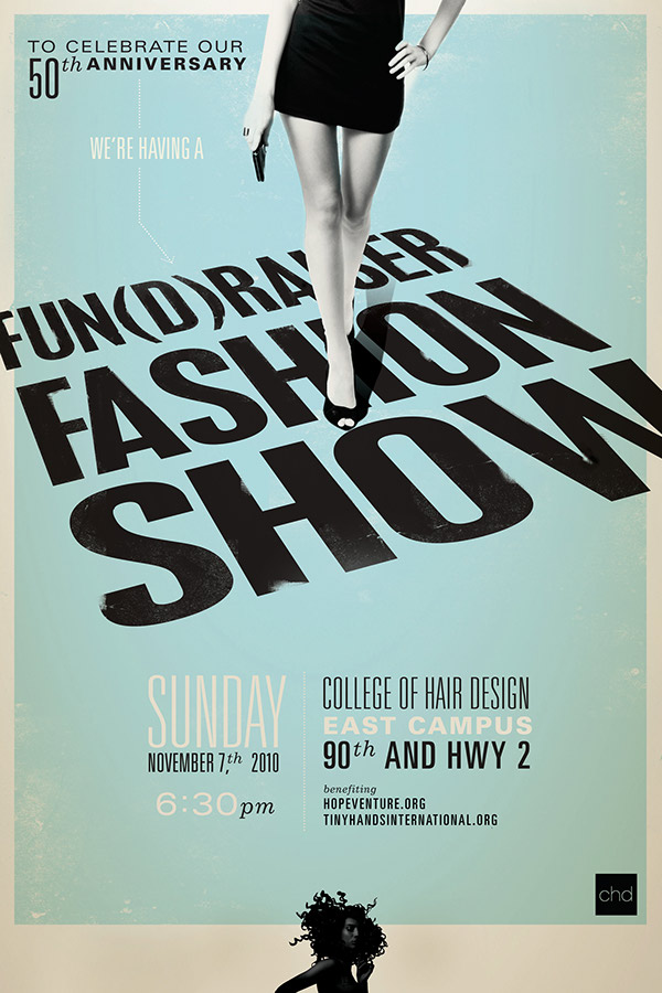 Fashion Show poster for College of Hair Design on Behance