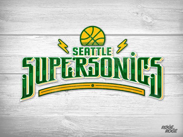 New Sonics Logo of Seattle Sonics Logo