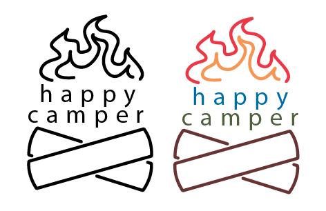 Happy Conception Happy Camper Logo Conception