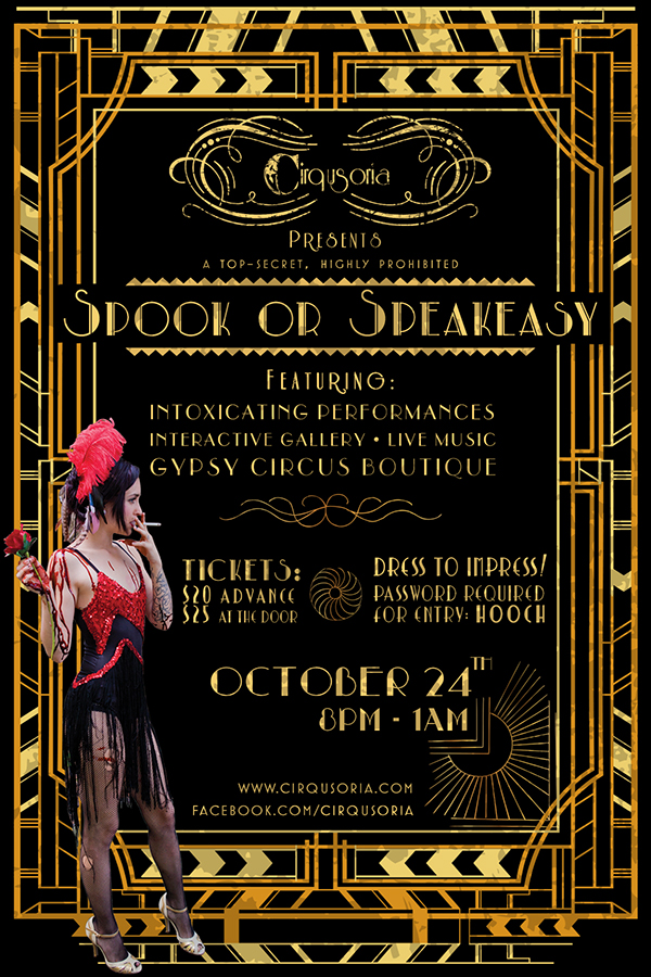 Cirqusoria's Spook or Speakeasy Flyer on SVA Portfolios