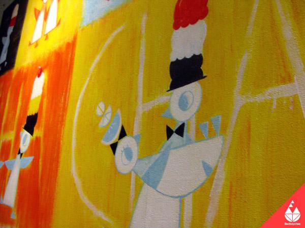 penguins Mural electrolychee ice cream