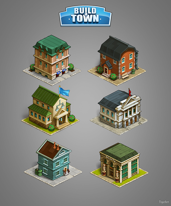 Graphics For Game Build A Town On Behance