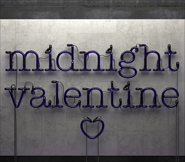 Midnight Valentine 3d Cgi On Pantone Canvas Gallery