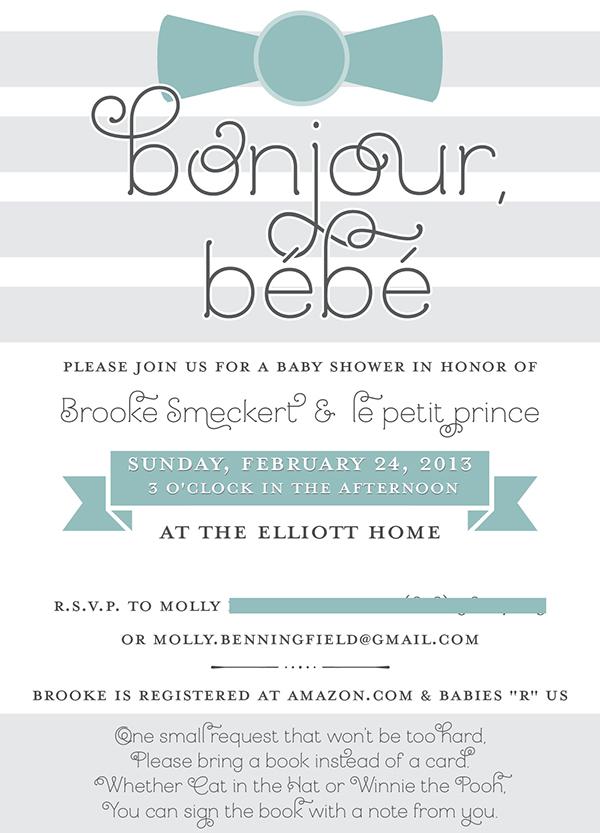 Bonjour bb baby shower invitation on behance stopboris Gallery