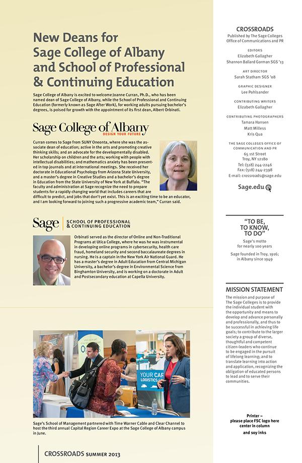 The Sage Colleges,magazine