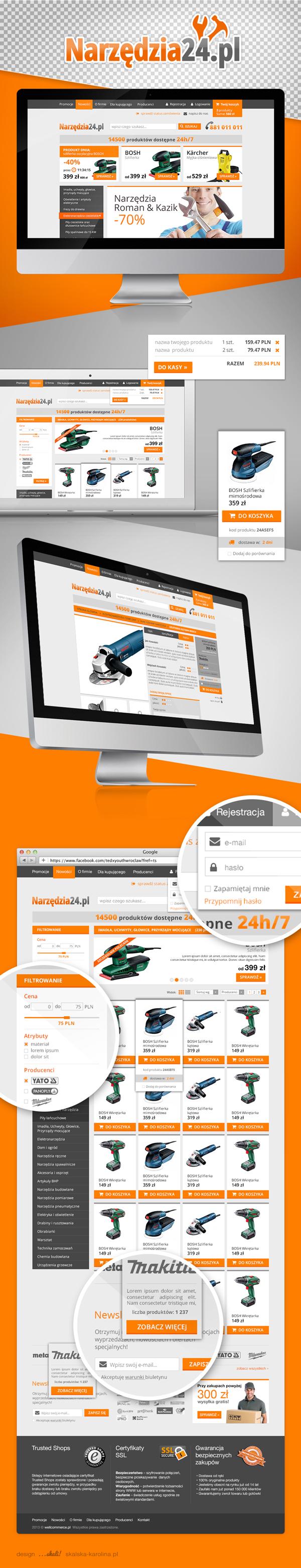 UI e-commerce online store cart checkout basket